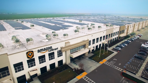 Amazon to install solar systems on 50 fulfillment facility rooftops worldwide by 2020