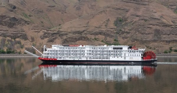 The American Empress cruise ship runs tours along the Snake River during the summer months. Port of Clarkston officials say the growing industry delivers 20,000 tourists to their streets, and a nearby regional air field, every year -- business that would literally dry up with the breaching of dams on the lower Snake River. (Courtesy Port of Clarkston)
