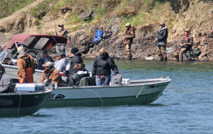 Spring Chinook fishing in the Northwest is popular either from a boat or from the bank.