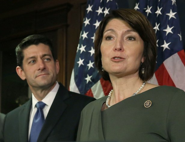 Cathy McMorris Rodgers and Paul Ryan.