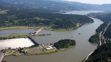 (Amelia Templeton photo) Bonneville Dam was the federal government's first dam built on the mainstem of the Columbia River.