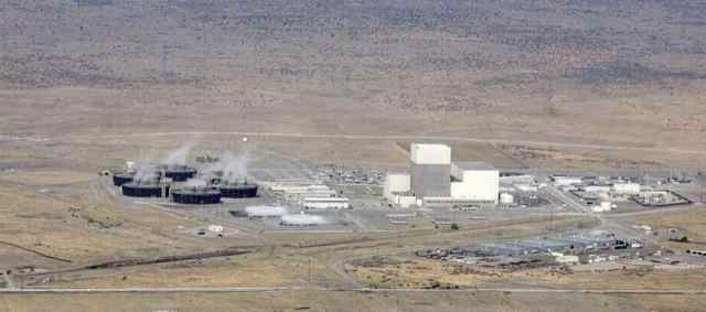 Aerial view of Columbia Generating Site, the Northwest's only nuclear power plant