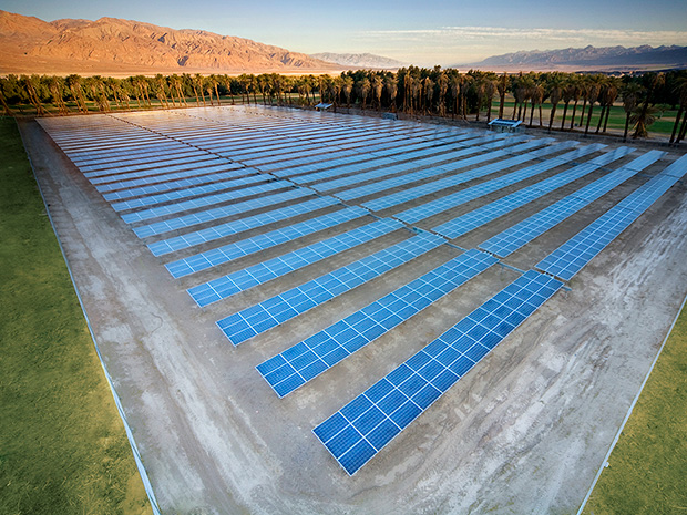 Solar Array at Furnace Creek Ranch in Death Valley, California