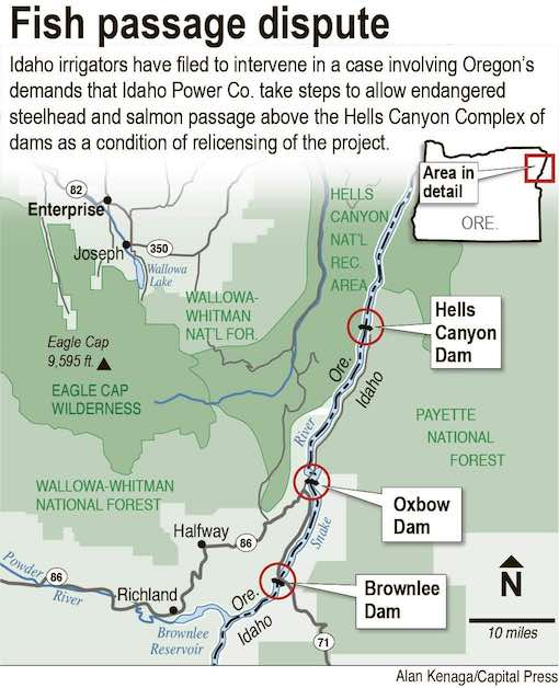 Map: Idaho Power's three dams work together as the Hells Canyon Project to produce a substantial amount of the electricity that is sold to their customers.