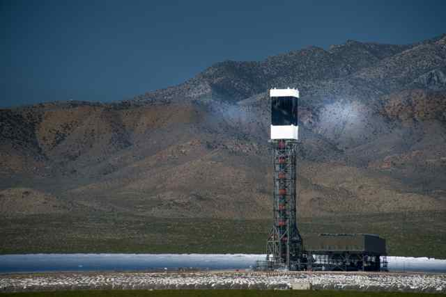 The Ivanpah Solar Electric Generating System in California is a concentrating solar power station. (Howard Ignatius photo)