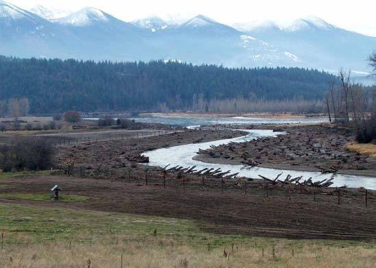 Kootenai River floodplain side channel restoration. (Photo Credit: USGS)
