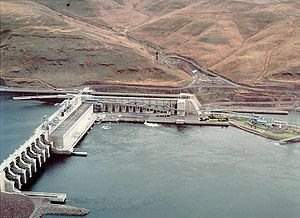 Little Goose Lock and Dam on the Lower Snake River in a remote corner of Southeast Washington State.