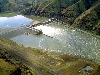 Lower Granite Dam in remote SE Washington, backs up the Lower Snake some forty miles to the Idaho border.