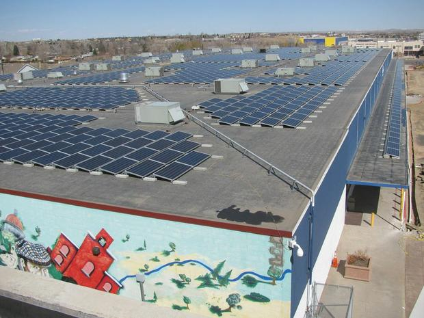 Mosaic raised enough money through crowdfunding to put a solar roof on Pinnacle Charter School in Denver, Colorado. (Mosaic photo)