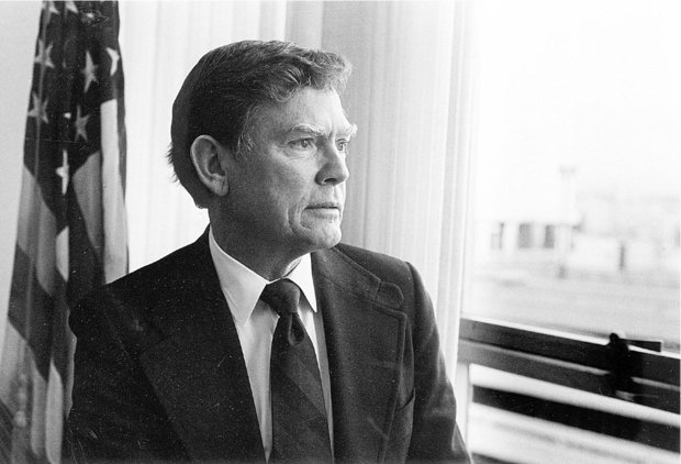 Peter T. Johnson during his days as administrator of the Bonneville Power Administration.