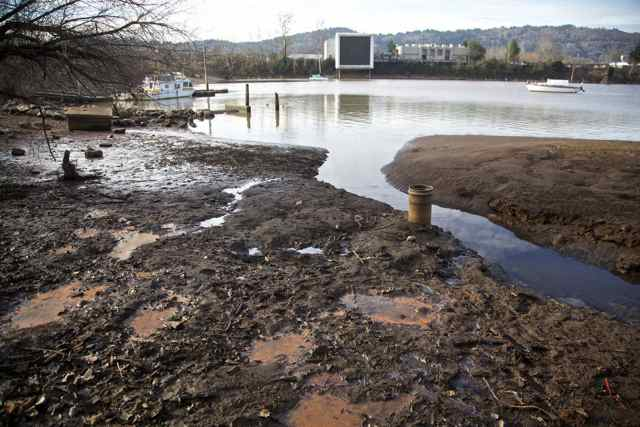 The Swan Island Lagoon is central to the debate about the Environmental Protection Agency's assessment of risk from polychlorinated biphenyl (PCB) contamination. The harbor businesses say the EPA's assessment is overblown. (Portland, Oregon--02/07/2012 -- Jamie Francis/The Oregonian)