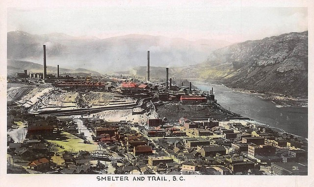 The Teck smelter looms over the town of Trail, on the banks of the Columbia River in southeast British Columbia.