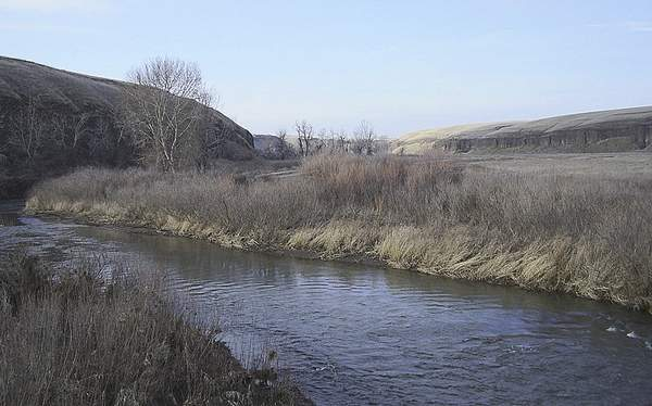 The 55-mile Touchet River, a tributary of the Walla Walla River, flows through southeast Washington. The state Department of Ecology has fined a Columbia County orchard, charging the orchard with illegally drawing from the river after DOE shut-off irrigators last summer because of the drought.