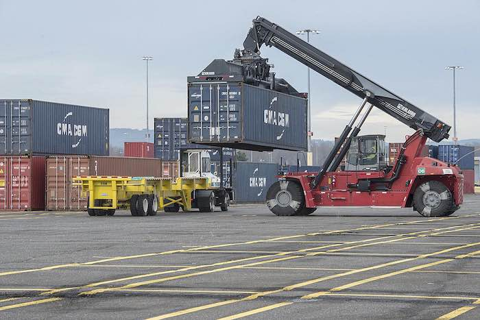 Truck-to-rail operations at the Port of Portland have picked up, but the facility continues to lose money has it faces potential competition from another facility planned in the Willamette Valley.  (Port of Portland photo)