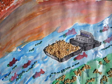 Salmon in the Classroom produces winning art in the fifth grade (2008), sponsored by Washington Wheat Commission.