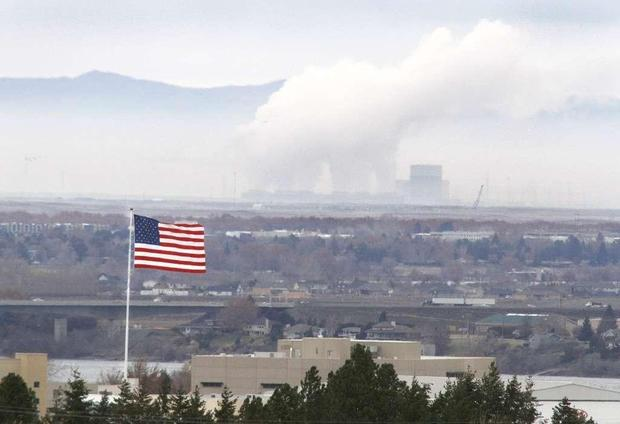 Steam is released from the Columbia Generating Station near Richland.