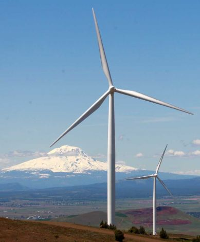 (AP photo) Wind turbines on the Columbia Gorge near Goldendale, Washington) The federal agency that regulates much of the electrical transmission in the Northwest proposed a compromise Tuesday in a dispute with wind producers who were forced to shut down last spring, when heavy runoff produced too much hydroelectric power. <p> The Bonneville Power Administration, based in Portland, Ore., proposed to pay half the losses incurred by wind power producers that shut down when the extra hydroelectric power is too much for the grid to handle. The cost would be passed on in increased rates for major customers, such as public utilities, the aluminum industry, and federal installations. <p>