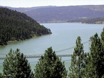 The impoundment of the North Fork Clearwater River by Dworshak dam flooded the world's most productive steelhead habitat.  Now the world's largest steelhead hatchery is operated below the dam.