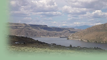 Ephrata Port on the Columbia River is located upstream of the Snake River confluence