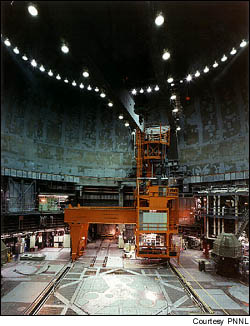 The Fast Flux Test Facility reactor containment unit was designed to prevent the release of radioactive material into the atmosphere in case of accidents.