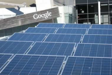 Solar panel installation at Google's Mountain View, Calif. headquarters is seen in the 2007 file photo. Google began making investments in 2007 to drive down the price of renewable energy in 2007, with a particular focus on solar power. But this past week, the company pulled the plug on those initiatives.