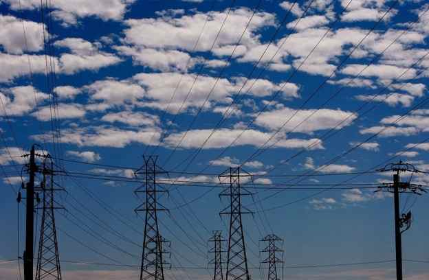 Power lines provide electricity transmission.