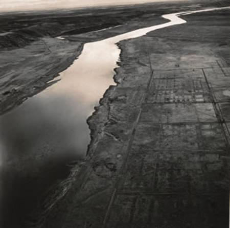 Hanford city site on Columbia River (by Emmet Gowin: Changing the Earth)