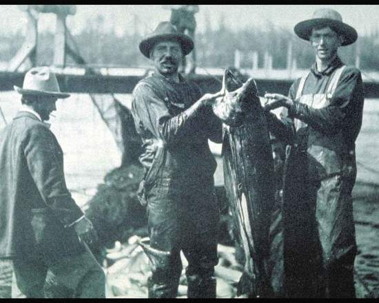 Historic photo of Fisherman with Catch