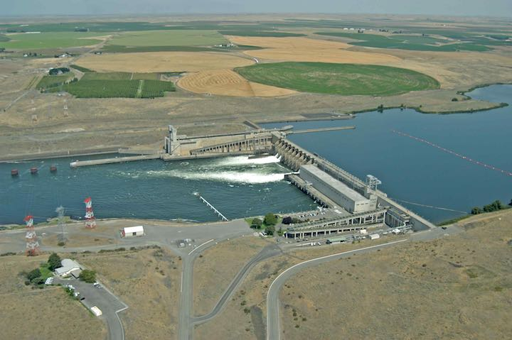Ice Harbor Dam (aerial photo - Salmon Recovery)