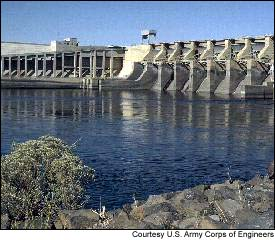 Ice Harbor Dam near Levey, Wash., is one of the four dams on the lower Snake River that environmentalists say need to be breached in order to save wild salmon.