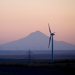 Leaning Jupiter wind farm in eastern Oregon is owned by PacifiCorp.