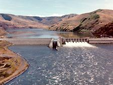 Lower Granite dam on the Lower Snake River in southeastern Washington state.