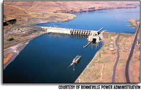 Lower Granite Dam, about 50 miles northeast of Walla Walla, Wash., is among the lower Snake River dams that is spawning debate: Is breaching a good or bad idea environmentally and economically? The other dams are Lower Monumental, Little Goose and Ice Harbor.