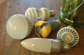 New light bulbs appear on the market as the incandescent bulb is phased out.