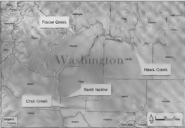 Reservoir sites of the Columbia River mainstem storage options.