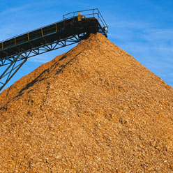 Wood chips provide electricity for Pacific Power's Oregon customers.