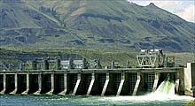 Electricity generated by Rock Island Dam in Chelan County, Wash., helped the county's public utility earn a record $58.2 million in profits last year.