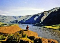 This photo of Granite Point on the Snake River was taken before Lower Granite dam inundated the canyon in 1975.