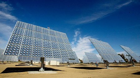 Solar Power Arrays capturing the renewable energy of the sun.