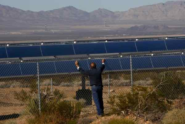 Solar arrays, such as these in Victorville, are becoming an increasingly common sight in California. (Mark Boster)