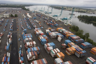 (Randy L. Rasmussen) Expansion at the Panama Canal poses a threat to container business at West Coast ports, such as the Port of Portland's Terminal 6. In 2014, the Panama Canal will be able to take on ships capable of hauling three times more containers than those that can be accommodated here.