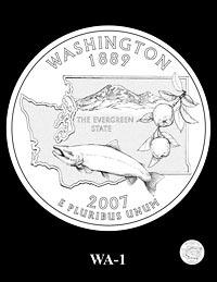 Finalist design for Washington State quarter