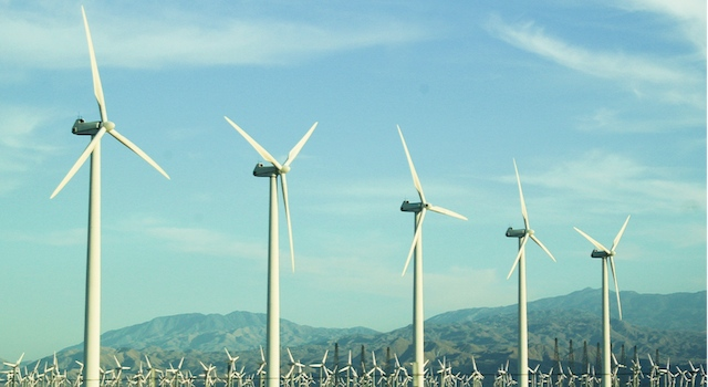 Wind turbines become a large part of the NW energy mix through support from federal subsidy.