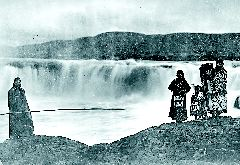 Fishing at Celilo Falls